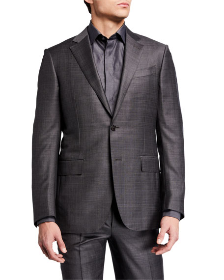 Image 1 of 4: Ermenegildo Zegna Men's Tonal Plaid Two-Piece Wool Suit