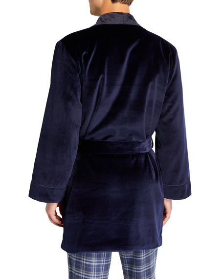 Neiman Marcus Men's Smoking Jacket Velvet Robe