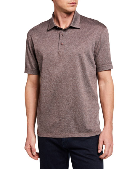 Ermenegildo Zegna Men's Twill Cotton Polo Shirt