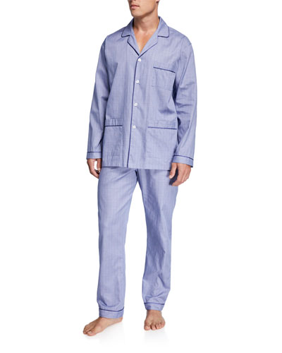 Men's Plaid Luxurious Cotton Pajama Set