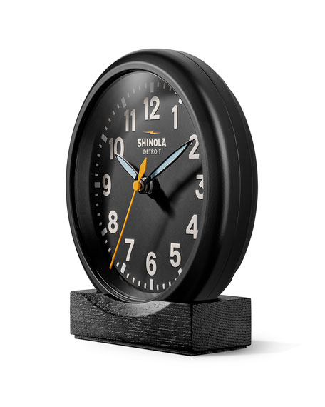 "Image 2 of 4: Shinola 6"" Stand Desk Clock, Black"