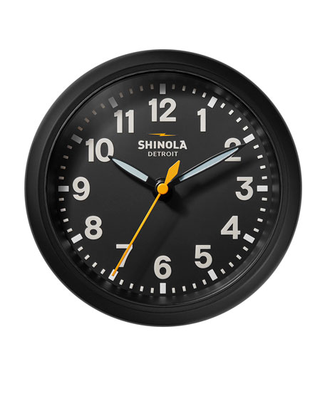 "Image 4 of 4: Shinola 6"" Stand Desk Clock, Black"