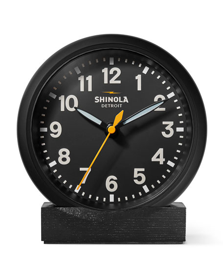 "Image 1 of 4: Shinola 6"" Stand Desk Clock, Black"