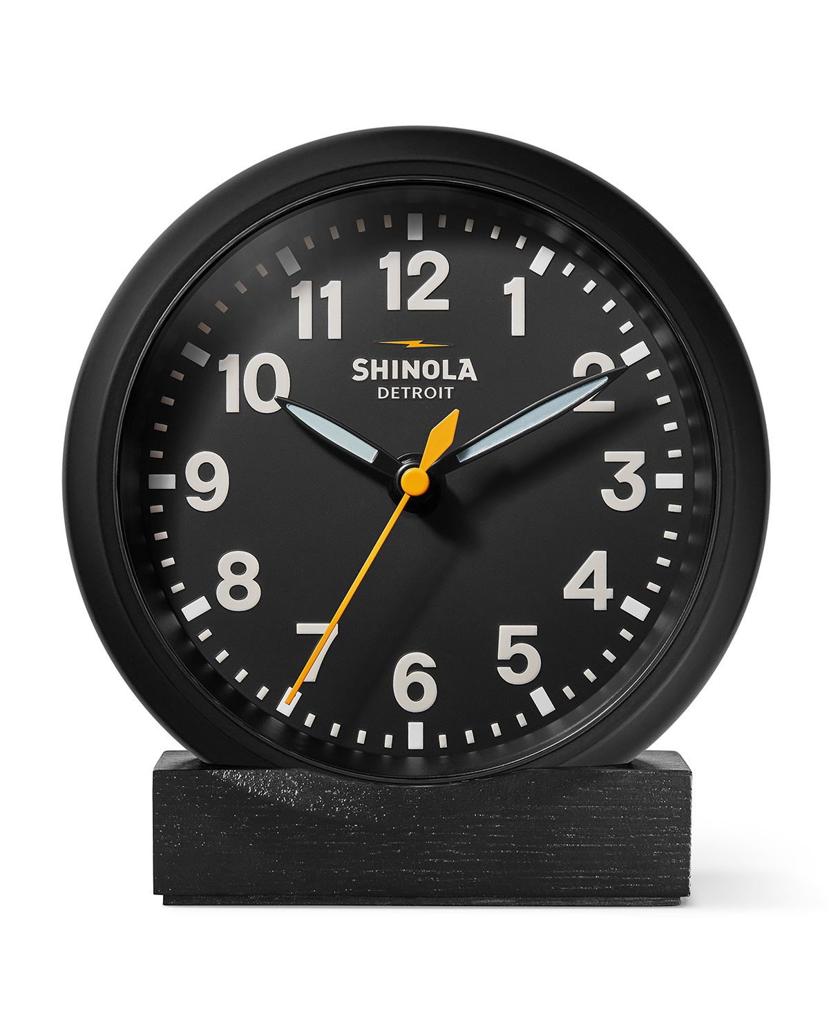 "Shinola 6"" Stand Desk Clock, Black"
