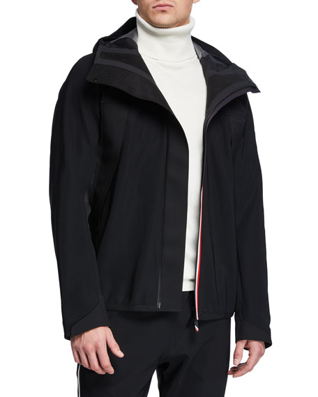 Moncler Accessories Men's Grenoble Jersey Zip-Front Cardigan