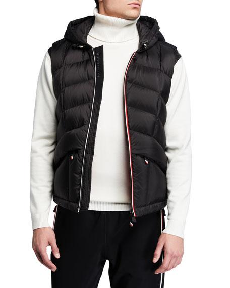Moncler Accessories Men's Grenoble Rossiniere Zip-Front Hooded Vest