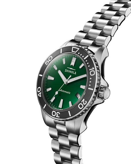 Shinola Men's 43mm Lake Ontario Monster Automatic Bracelet Watch