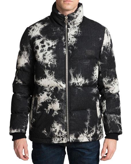 PRPS Men's Tie-Dye Puffer Jacket