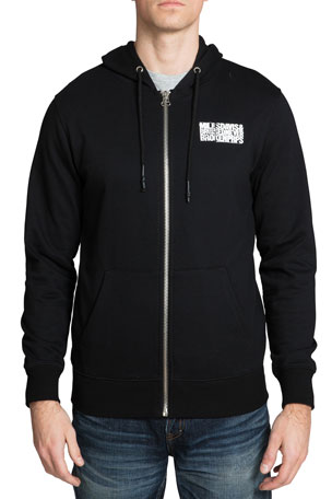 PRPS Men's Miles Davis Photo Full-Zip Hoodie Sweatshirt