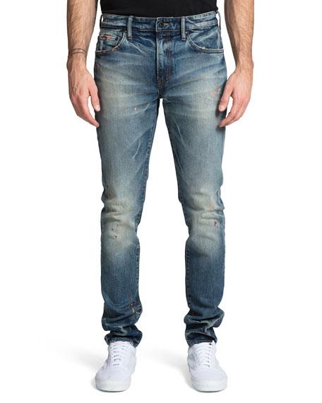 PRPS Men's Windsor Skinny Jeans with Paint Spots