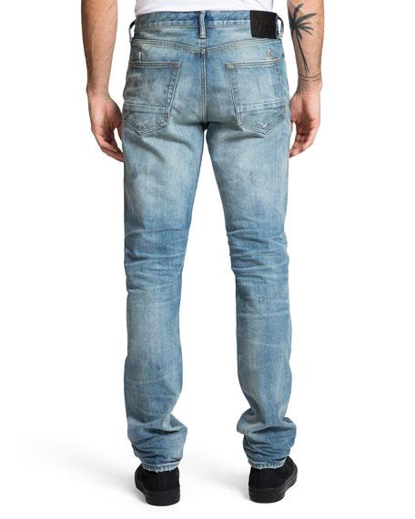 PRPS Men's Le Sabre Rip/Repair Slim Jeans