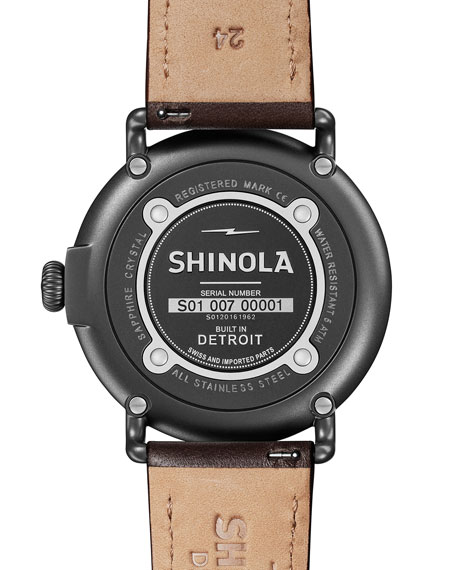 Shinola Men's 47mm Runwell Leather Watch