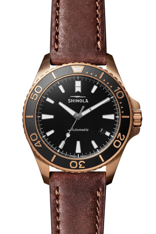 Shinola Men's The Bronze Monster Automatic 43mm Watch Gift Set
