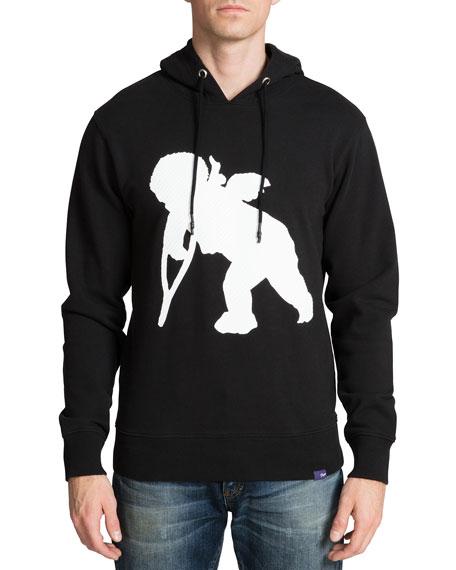 PRPS Men's Textured Cherub Fleece Hoodie Sweatshirt