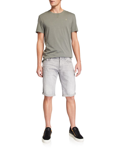G-Star Men's Five-Pocket Dusty Vintage Gray Denim Shorts