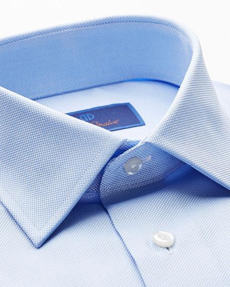 David Donahue Men's Regular-Fit Royal Oxford Dress Shirt, Sky