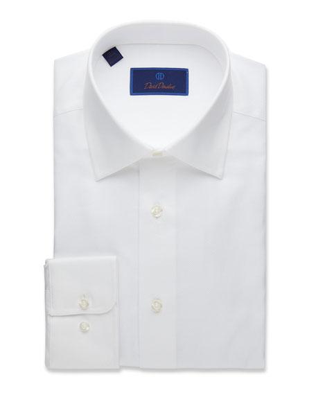 David Donahue Men's Regular-Fit Royal Oxford Dress Shirt, White