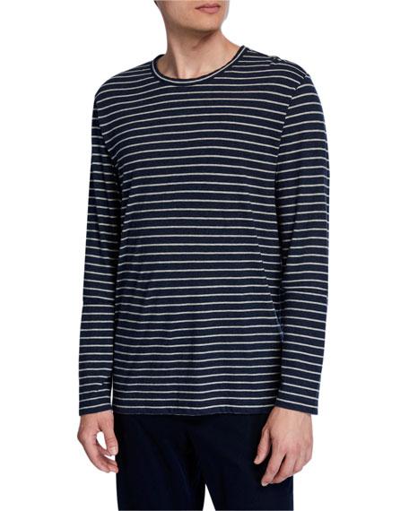 Vince Men's Striped Long-Sleeve Crewneck T-Shirt