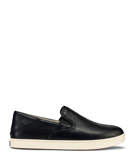 Olukai Men's Kahu 'Ili Waxed Nubuck Leather Slip-On Sneakers