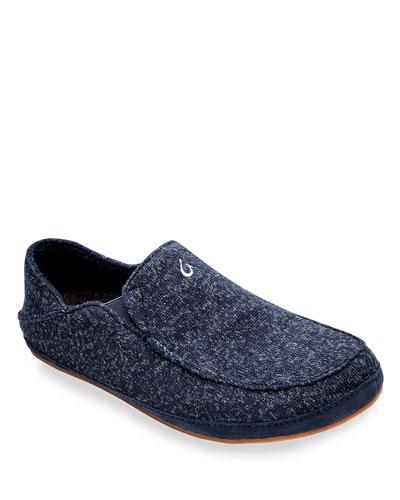 Men's Moloa Hulu Heathered Knit Slippers
