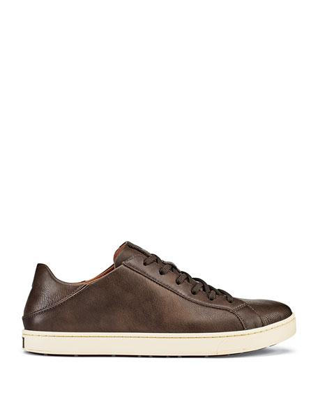 Olukai Men's Kahu Pahaha Leather Everyday Sneakers