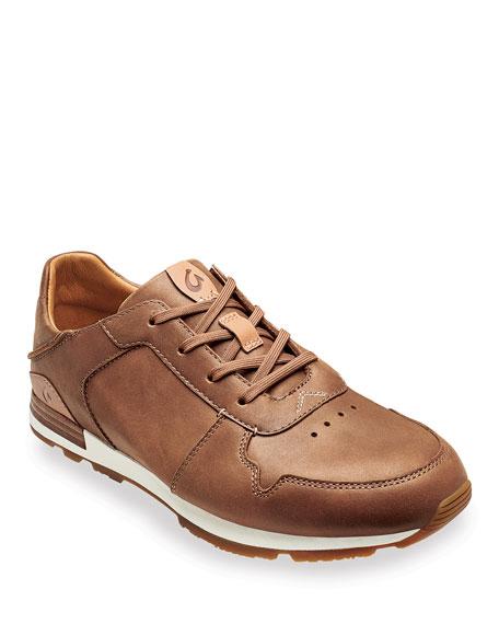 Olukai Men's Huaka'i Li Waxed Nubuck Leather Sneakers