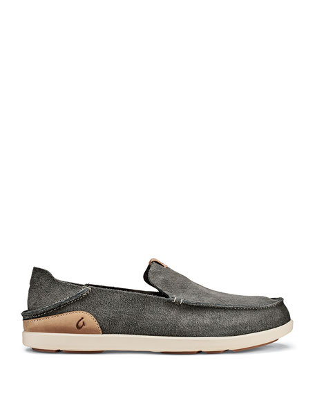 Olukai Men's Nalukai Kala Double-Sided Leather Slip-On Shoes