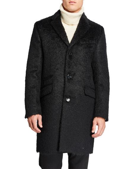Karl Lagerfeld Men's Mohair Wool Top Coat