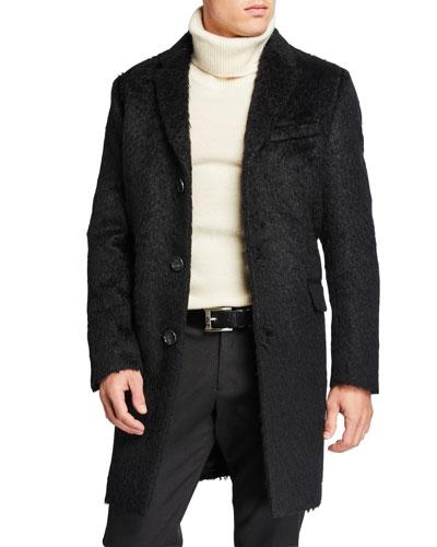 Men's Mohair Wool Top Coat