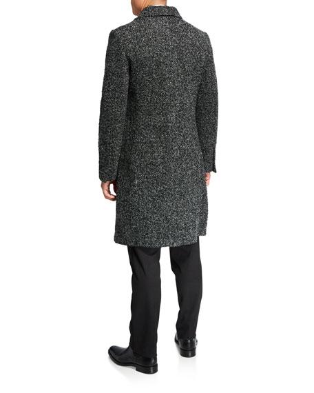 Karl Lagerfeld Men's Double-Breasted Wool Top Coat