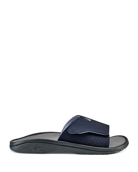 Olukai Men's Nalu Grip-Strap Slide Sandals