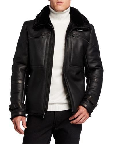 Men's Shearling Aviator Jacket