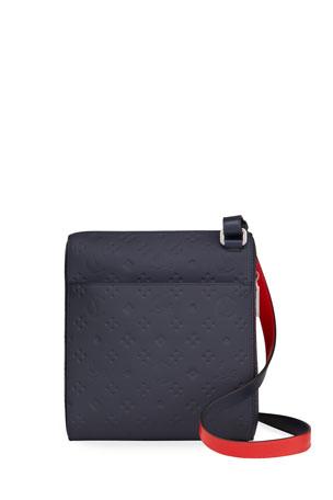 Christian Louboutin Men's Benech Embossed Leather Crossbody Bag