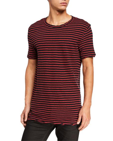 Ksubi Men's Sinister Striped T-shirt In Red