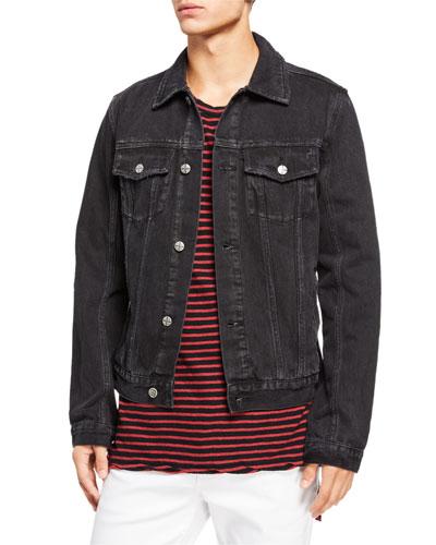 Men's Classic Dark-Wash Denim Jacket