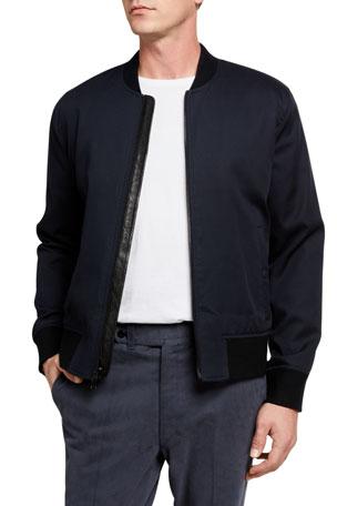 Vince Men's Zip-Front Bomber Jacket
