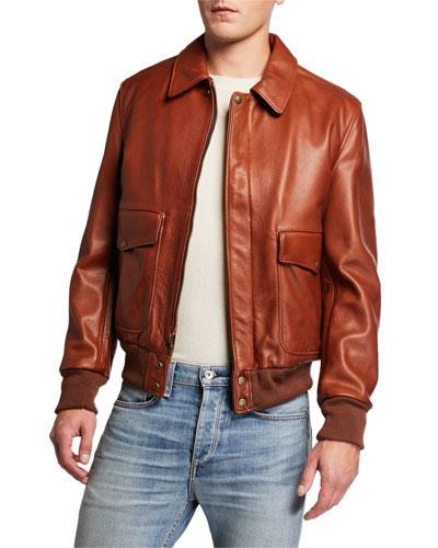 Men's Lightweight Waxy Cowhide Jacket
