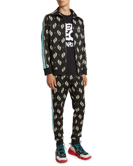 Image 3 of 5: Kenzo Men's Ikat Jacquard Track Jacket