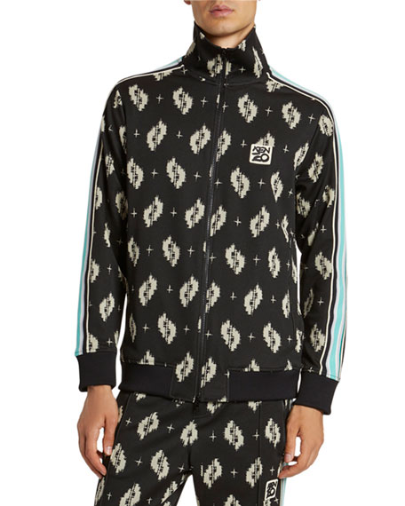 Image 1 of 5: Kenzo Men's Ikat Jacquard Track Jacket