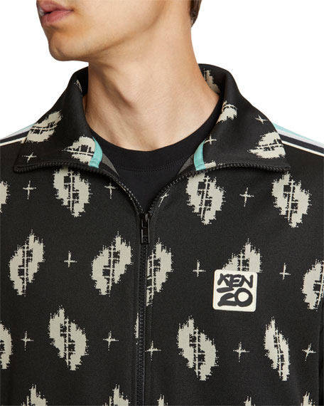 Image 5 of 5: Kenzo Men's Ikat Jacquard Track Jacket