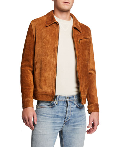 Men's Midweight Rough-Out Suede Jacket