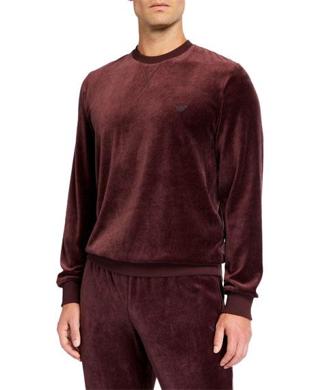 Emporio Armani Men's Chenille Crewneck Sweater