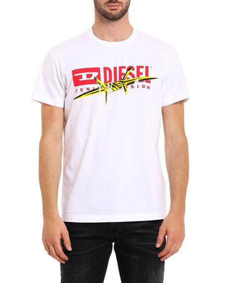 Diesel Men's T-Diego-BX2 Barbed Wire Graphic T-Shirt