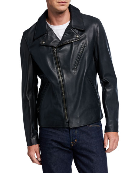Schott NYC Men's Motorcycle Waxy Cowhide Leather Jacket