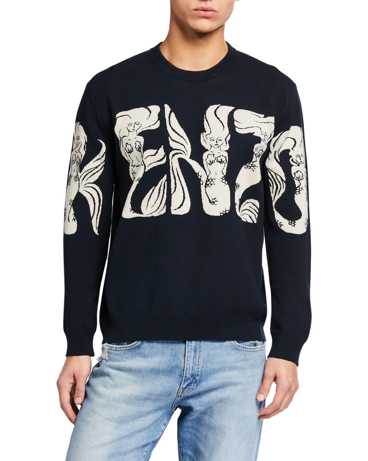 Kenzo Men's Mermaids Typographic Sweater
