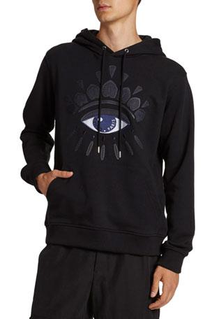 Kenzo Men's Mesh Eye Graphic Pullover Hoodie