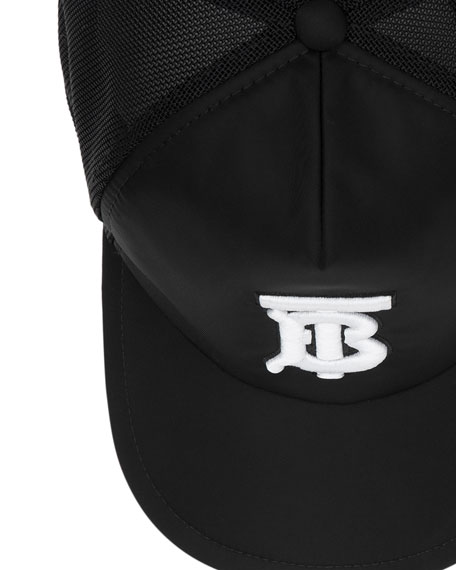 Burberry Men's TB Puffer Baseball Cap with Mesh Back
