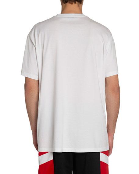 Givenchy Men's Oversized Logo T-Shirt with Paris Address