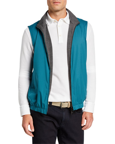 Loro Piana Accessories Men's Windmate Reversible Zip-Front Vest