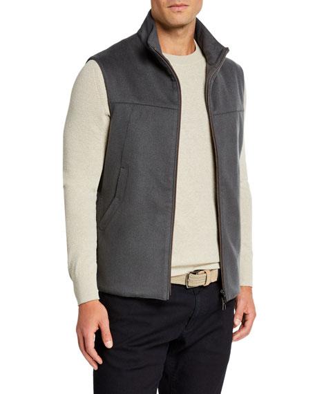 Loro Piana Accessories Men's Midway Zip-Front Cashmere Vest